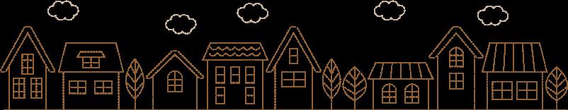 ハウスの刺繍